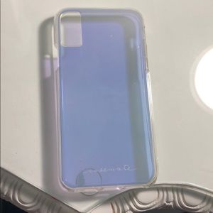 Brand new never used iPhone X iridescent case